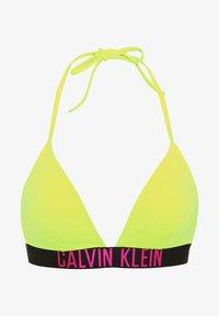 Calvin Klein Swimwear - INTENSE POWER FIXED TRIANGLE - Top de bikini - safety yellow - 0