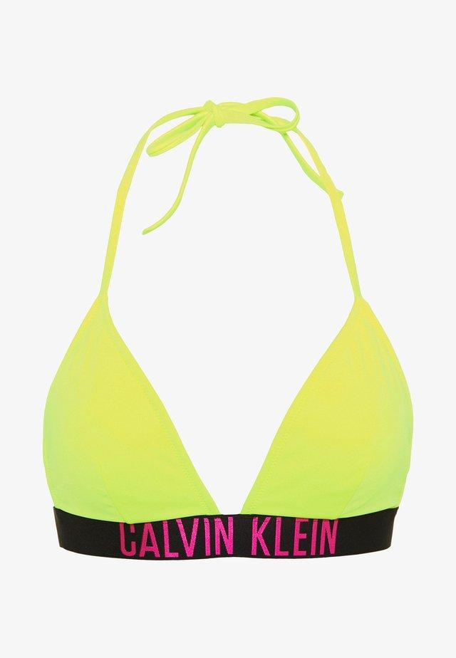 INTENSE POWER FIXED TRIANGLE - Top de bikini - safety yellow