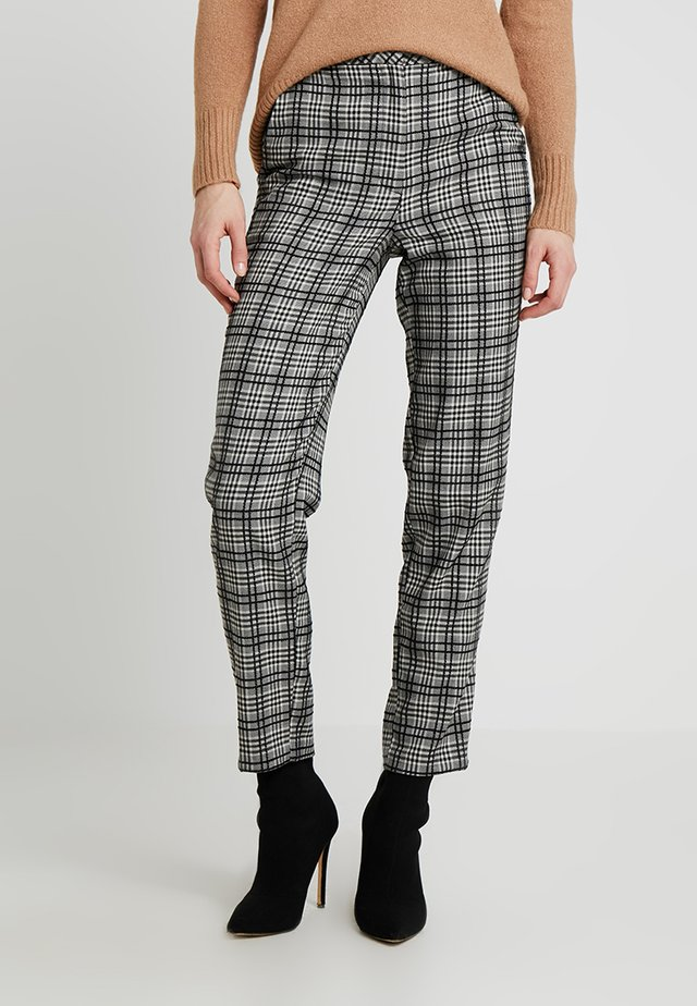 MONO CHECK TROUSERS - Kalhoty - black/white