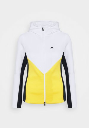 CRYSTAL CHEVRON - Zip-up hoodie - banging yellow