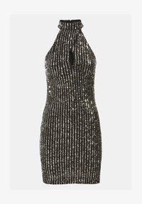 Guess - HOHER KRAGEN PAILLETTEN - Cocktail dress / Party dress - schwarz - 2