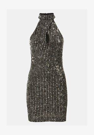 HOHER KRAGEN PAILLETTEN - Cocktail dress / Party dress - schwarz
