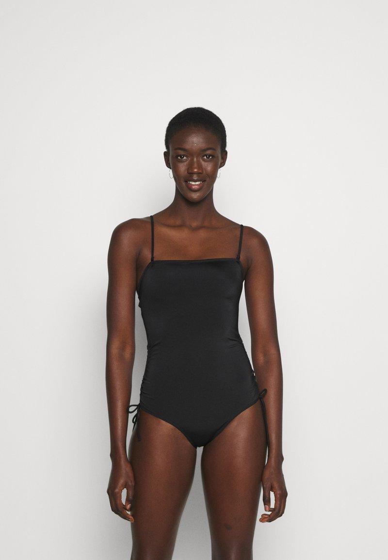 Monki - TANJA SWIMSUIT - Plavky - black dark
