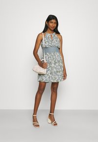 Vila - VIMILINA FLOWER DRESS - Cocktail dress / Party dress - ashley blue/white - 1