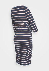 MAMALICIOUS - MLCARMEN DRESS  - Jersey dress - insignia blue/snow white - 1