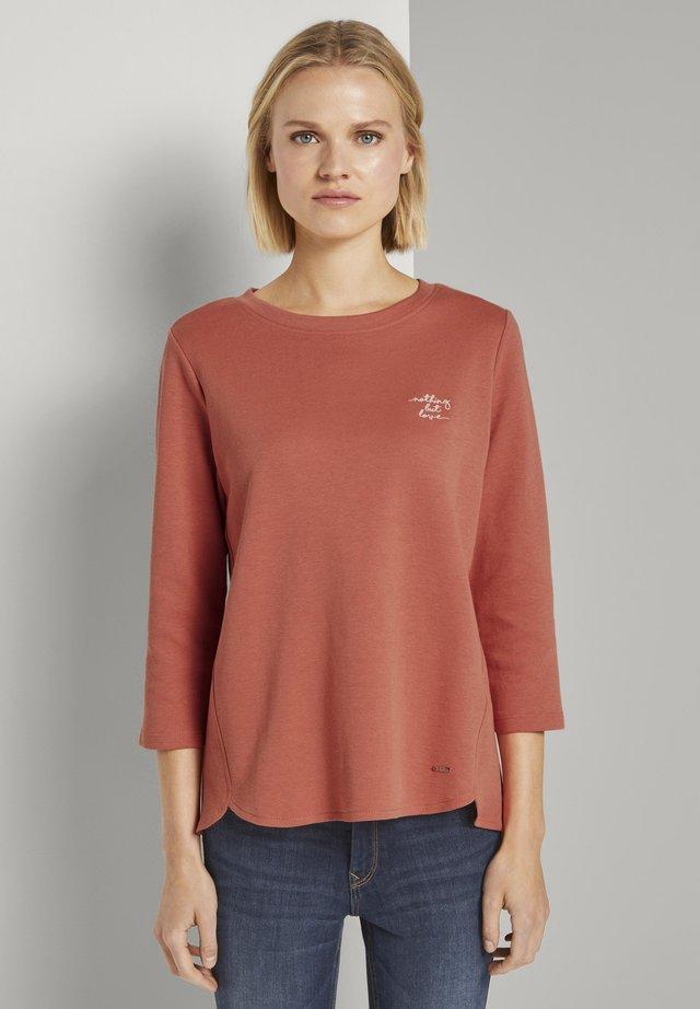 BASIC - Langærmede T-shirts - burnt coral