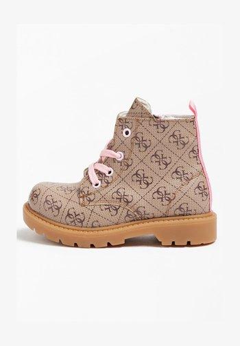 VIOLET  - Lace-up ankle boots - mehrfarbig beige