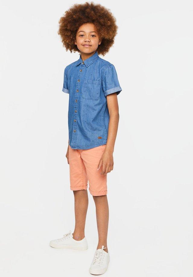 WE FASHION JUNGEN-JEANSHEMD MIT MUSTER - Shirt - blue