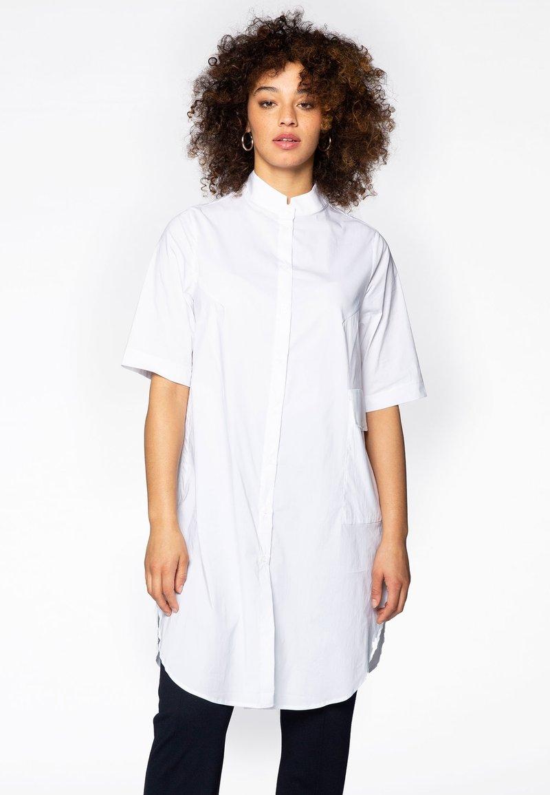 Yoek - Button-down blouse - white