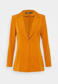 Missguided - SINGLE BREASTED - Short coat - mustard - 4
