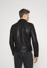 Superdry - MOTO BIKER - Leather jacket - black - 2