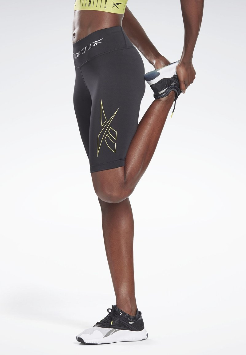 Reebok - LES MILLS® BIKE SHORTS - kurze Sporthose - black