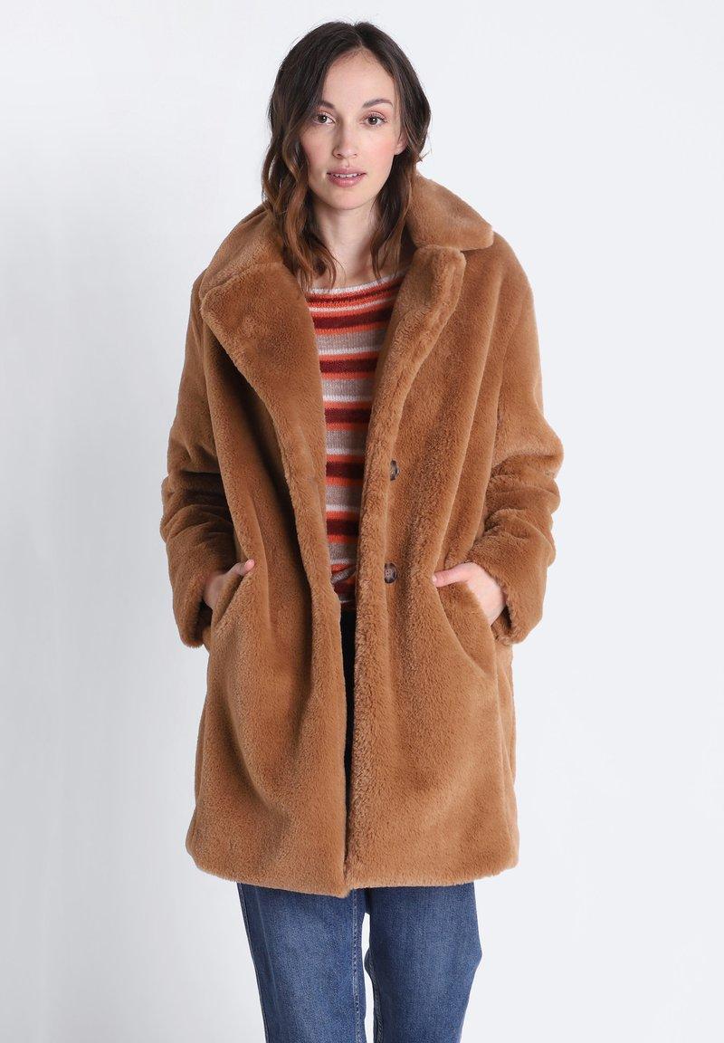 BONOBO Jeans - GERADER - Winter coat - marron clair