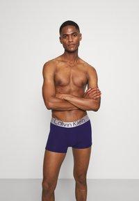 Calvin Klein Underwear - TRUNK 3 PACK - Culotte - hemisphere/hydrangea/purple fuss - 2