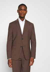 Calvin Klein Tailored - TROPICAL STRETCH SUIT - Suit - brown - 2