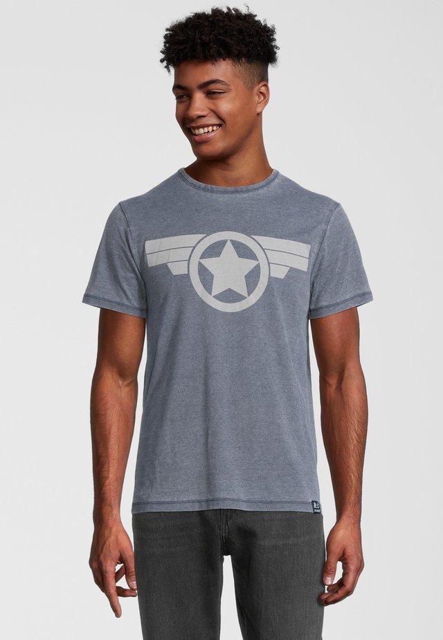 MARVEL CAPTAIN AMERICA ICON - T-shirt imprimé - blau