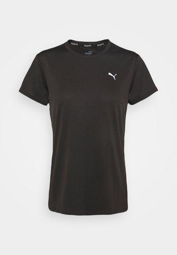 RUN FAVORITE TEE - Camiseta estampada - black