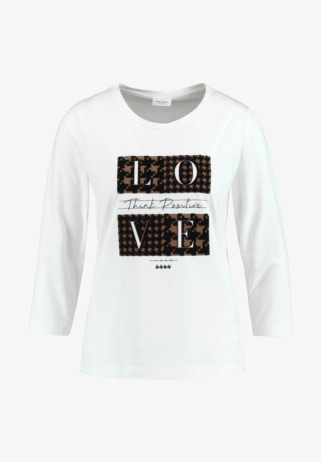 3/4 SLEEVE - T-shirt à manches longues - ecru/weiss druck