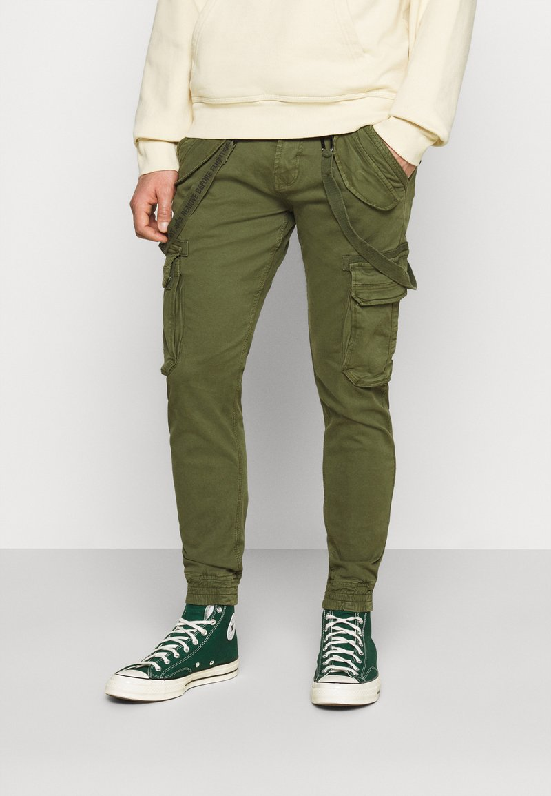 Alpha Industries - UTILITY PANT - Cargo trousers - dark olive