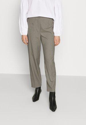 CHECK PANTS - Bukse - beige