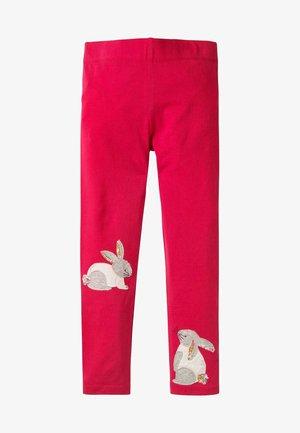 MIT APPLIKATION - Leggings - Trousers - sommerbeerenpink, häschen
