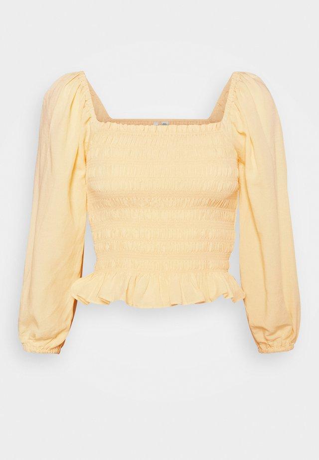KIKI SHIRRED BABYDOLL - Blouse - yellow