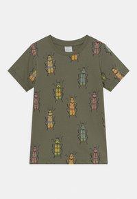 Lindex - MINI 2 PACK - T-Shirt print - khaki - 2