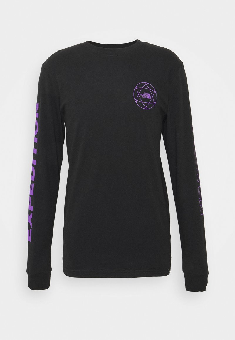 The North Face - DOUBLE SLEEVE GRAPHIC TEE - Long sleeved top - black