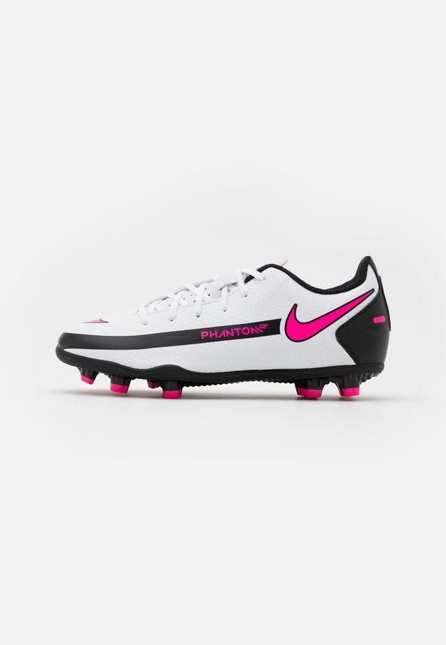 JR PHANTOM GT CLUB FG/MG UNISEX - Botas de fútbol con tacos - white/pink blast/black