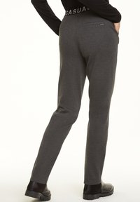 comma casual identity - REGULAR FIT - Tracksuit bottoms - dark grey melange - 2