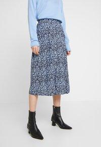 Moss Copenhagen - CELINA MOROCCO SKIRT - A-line skirt - blue - 0