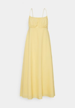 GATHERED BUST STRAPPY MIDI DRESS - Day dress - yellow
