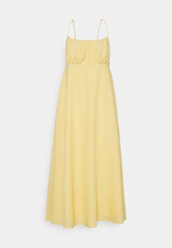GATHERED BUST STRAPPY MIDI DRESS - Day dress - yellow