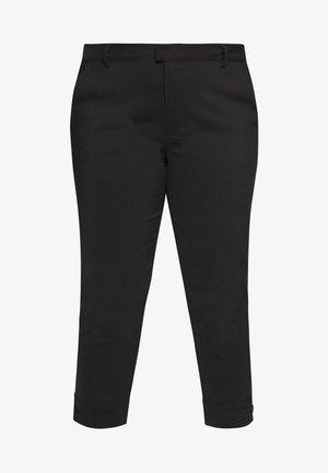 KCSANIE CROPPED PANTS - Trousers - black deep
