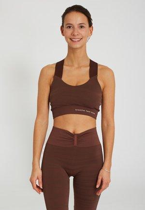 LAKSHMI - Medium support sports bra - brown