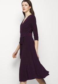 Lauren Ralph Lauren - MID WEIGHT DRESS - Trikoomekko - raisin - 5