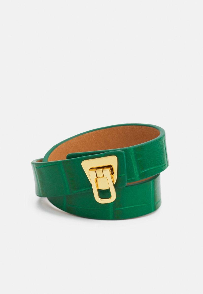 Coccinelle - BEAT CROCO SHINY SOFT BRACELET - Bracelet - grass green