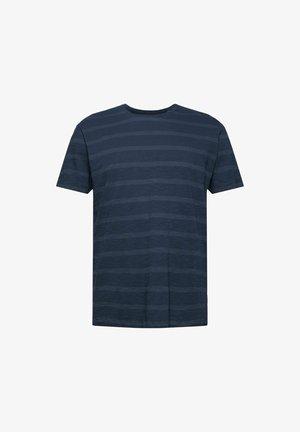 REGULAR FIT - T-shirt med print - dark blue, blue