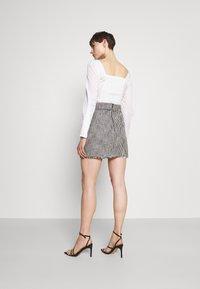 River Island - Mini skirt - black/white - 2