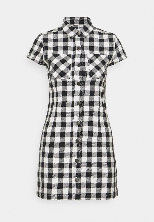 PIPER - Shirt dress - black / white