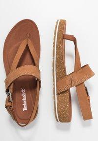 Timberland - MALIBU WAVES THONG - Sandály s odděleným palcem - rust - 3