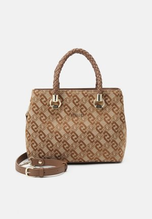SATCHEL DOUBLE ZIP S - Handbag - tortoise shell