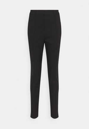 DRESSED SLIM PANTS - Trousers - black