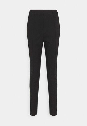 DRESSED SLIM PANTS - Broek - black