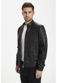 Matinique - Leather jacket - black - 0