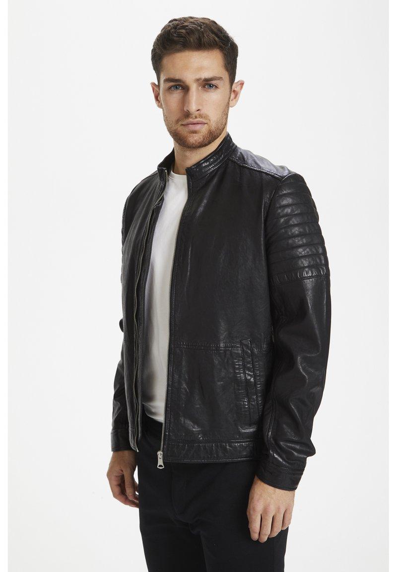 Matinique - Leather jacket - black