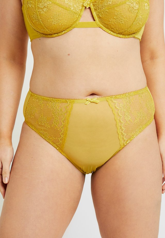 PLUS HIGH WAIST CHEEKY - Briefs - sulphur