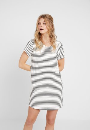 DAMEN SLEEPSHIRT KURZARM - Nightie - ivory