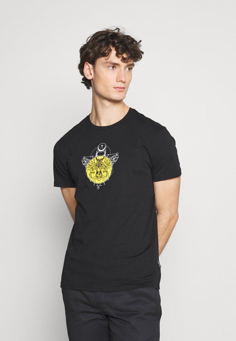 YOURTURN - UNISEX - Print T-shirt - black
