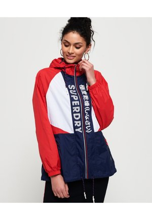 Windbreaker - navy blue/white/red